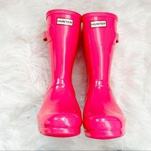 Hunters Original Short Rainboots Glossy Pink sz 9